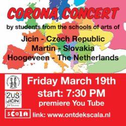 Internationaal concert muziekleerlingen Martin, Jicin, Hoogeveen