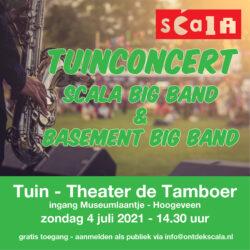 Tuinconcert Scala Big Band en Scala Basement Bigband